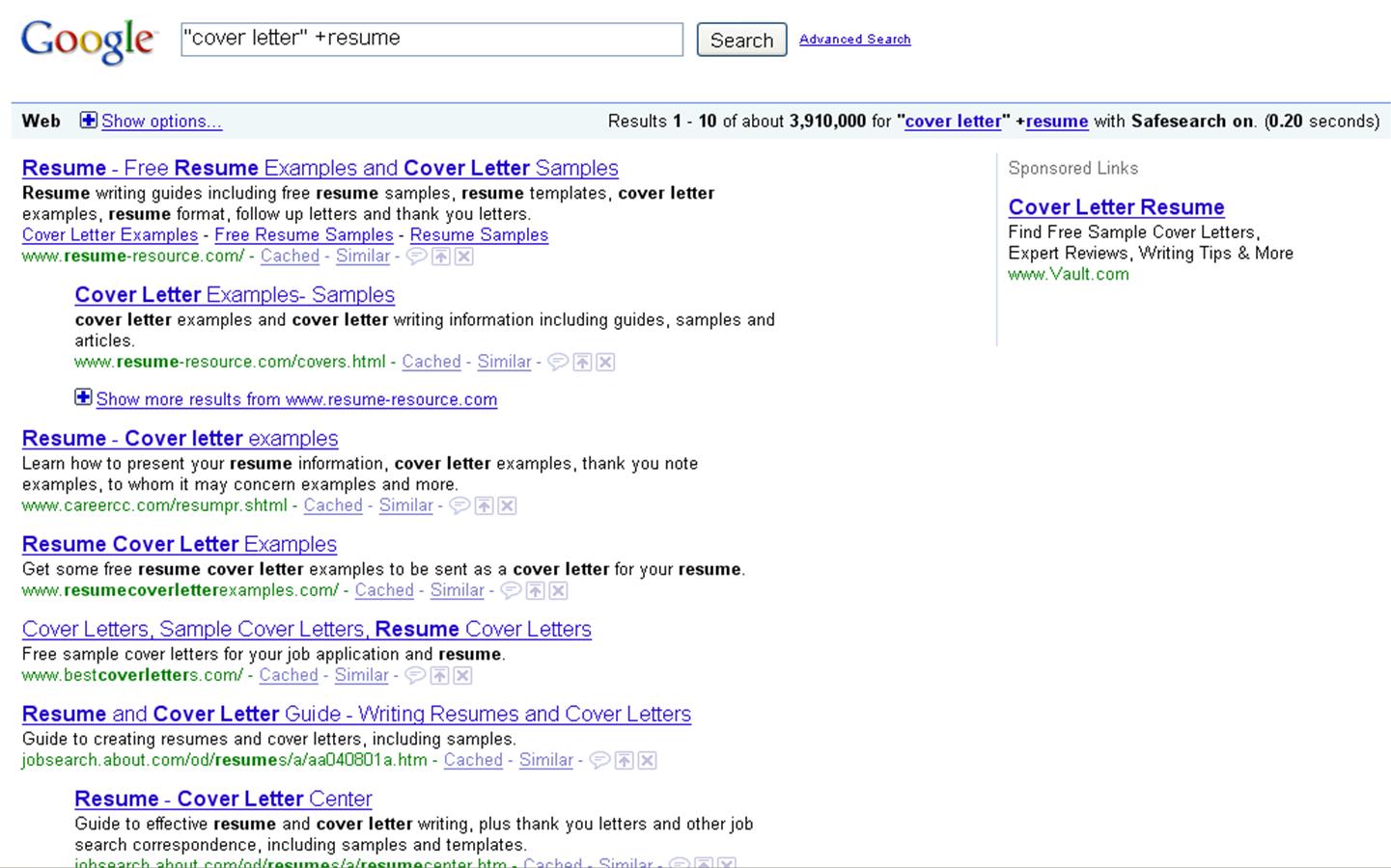Google sample cover letter – Sample Resume Cover Letters Free